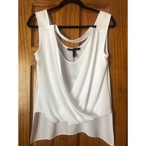 BRAND NEW BCBG MaxAzria White Wrap Top
